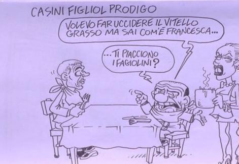 Servizio Pubblico, le vignette di Vauro: dallo scontro Boldrini-M5S a Casini