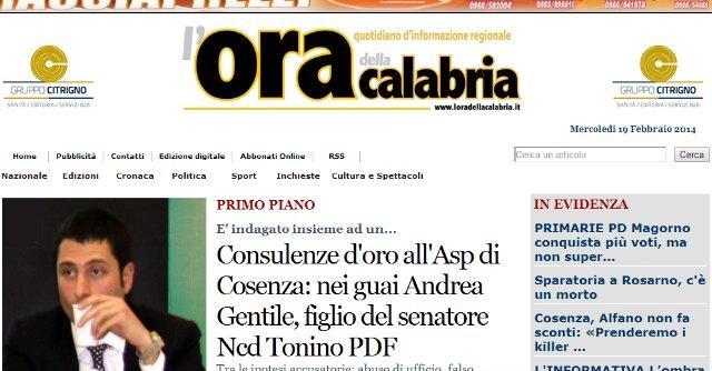"""L'Ora della Calabria, """"pressioni per bloccare notizia"""". E il giornale non esce"""
