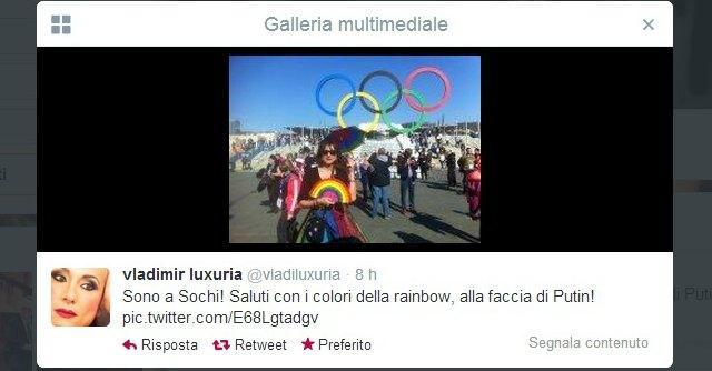Vladimir Luxuria arrestata a Sochi. Rilasciata: aveva bandiera 'gay è ok'