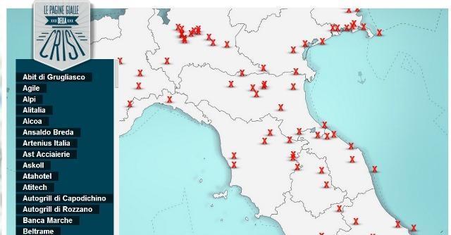 Dietro la mappa della crisi, le storie di chi porta le croci italiane del lavoro
