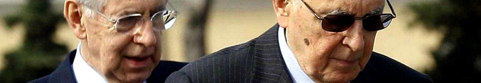 Napolitano: 'Complotto su Monti? Fumo' Grillo: 'Un Savoia avrebbe più ritegno'