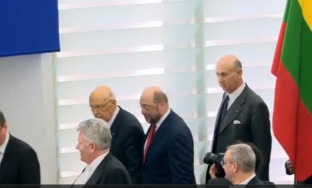 Napolitano al Parlamento Europeo