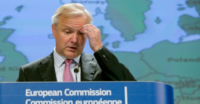 """Pareggio bilancio, Rehn: """"Italia non in buona posizione, se torna recessione proroga revocata"""""""