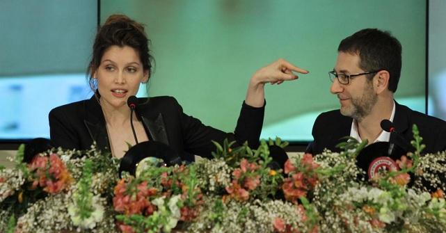 Fabio Fazio e Laetitia Casta a Sanremo