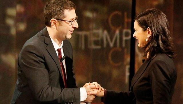 Laura Boldrini e Fabio Fazio