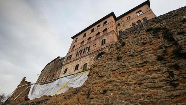 Maltempo-Volterra-mura-medievali