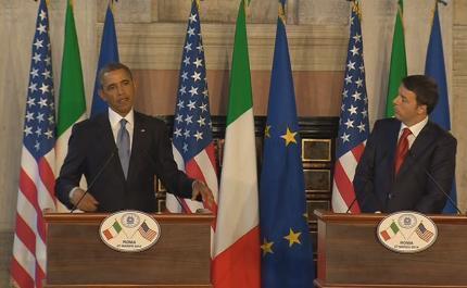 """Servizio Pubblico, Obama e Renzi sugli F35: """"Investire nella difesa"""""""
