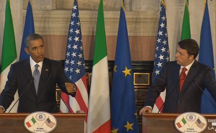 Servizio Pubblico, Obama a Roma e l'incontro con Renzi