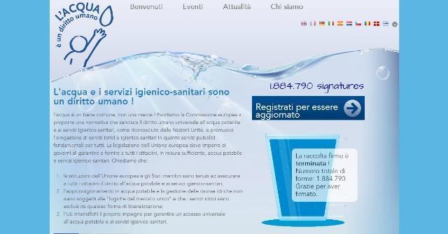 Due milioni di europei firmano per l'acqua pubblica, ma per l'Ue 'decidono gli Stati'