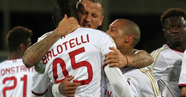 Serie A, risultati. Fiorentina-Milan: 0 – 2. Mexes e Balotelli salvano Seedorf