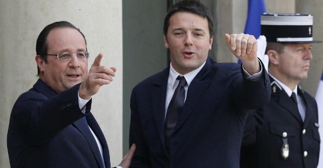 """Renzi e Hollande: """"Insieme per cambiare l'Ue"""". Ma i giornali francesi li ignorano"""