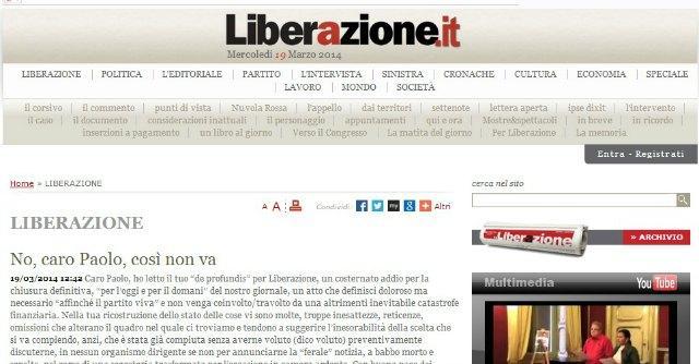 """Liberazione, Rifondazione chiude il sito. Ferrero: """"O il giornale o il partito"""""""