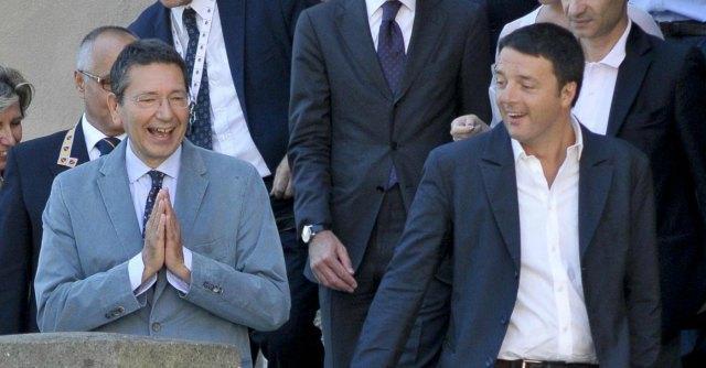 Ignazio Marino e Matteo Renzi