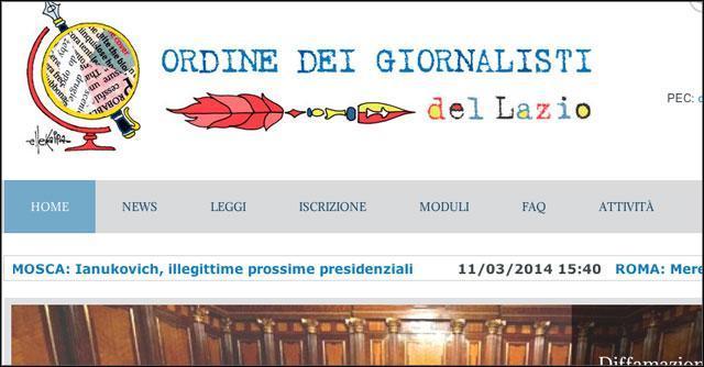 Ordine dei Giornalisti - Lazio