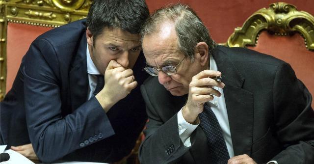 Pier Carlo Padoan e Matteo Renzi