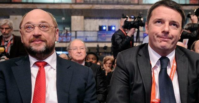 """Congresso Pse, Renzi risponde a Schultz: """"Conti in ordine per i nostri figli"""""""