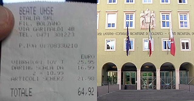 Sexy-scandalo in Sudtirol, ecco lo scontrino del vibratore acquistato a spese nostre