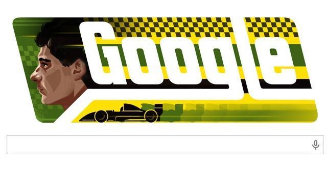 Ayrton Senna, il doodle di Google per i 54 anni 'virtuali' del campione brasiliano