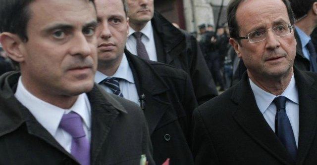 Manuel Valls e Francois Hollande