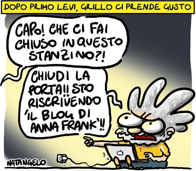 La vignetta del giorno: Il senso di Grillo per l'Olocausto
