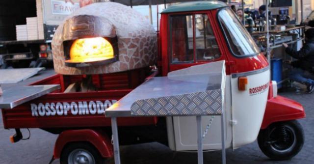 L'Apecar di Rossopomodoro, pizzeria itinerante da Napoli a Londra