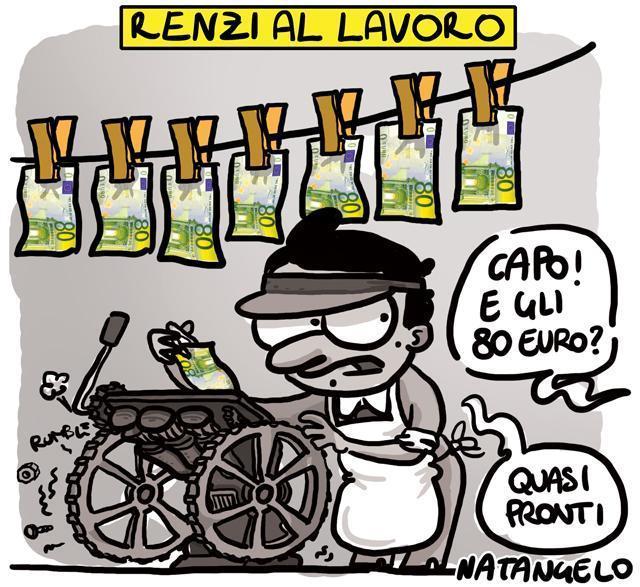 La vignetta del giorno: Gli ottanta euro