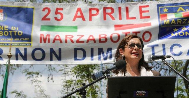 """25 aprile, Boldrini a Marzabotto: """"A nessuno è permesso giocare con la Shoah"""""""