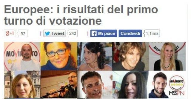 Candidati M5S Europee 2014
