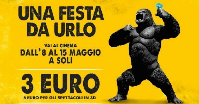 Festa del Cinema, contro la crisi biglietti da 3 euro ai 5 euro dall'8 al 15 maggio