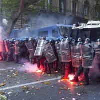 Manifestazione per la casa - Scontri con la Polizia