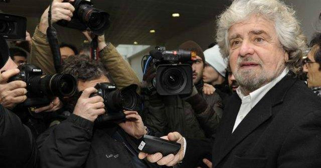 """Europee 2014, Grillo: """"A piazza San Giovanni chiusura campagna elettorale"""""""