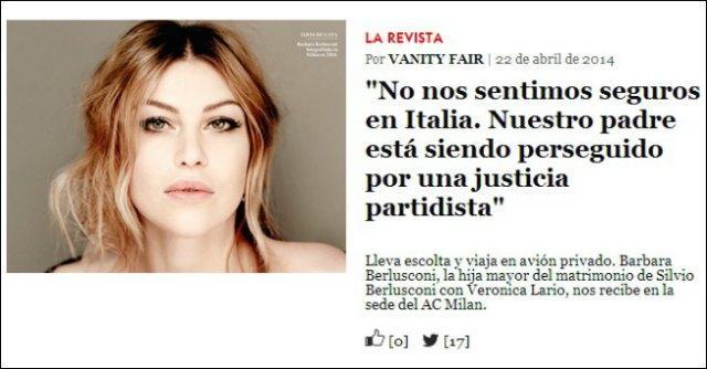 """Barbara Berlusconi: """"Mio padre perseguitato da giustizia di parte"""""""