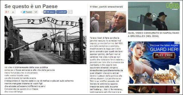 """M5S, Grillo parafrasa Primo Levi. Comunità ebraica: """"Infame provocazione"""""""