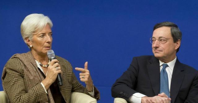 """Inflazione, Lagarde (Fmi) contro Draghi: """"La Bce deve affrontare il tema"""""""
