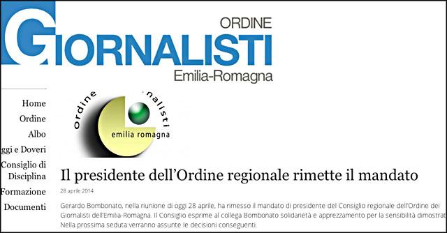 Ordine dei giornalisti Emilia Romagna