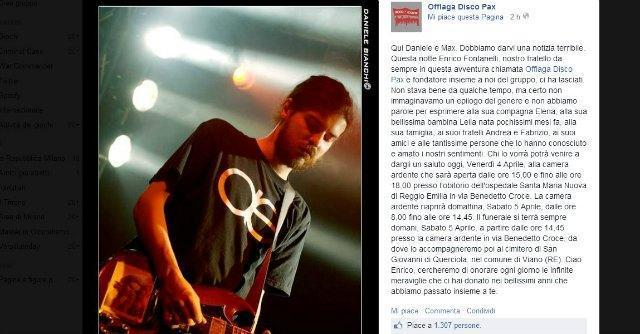 Enrico Fontanelli, morto il bassista e tastierista degli Offlaga Disco Pax