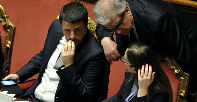 Renzi, Zanda e Boschi