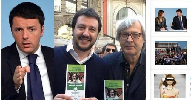 "Pesce d'aprile 2014, ""Renzi ha firmato i referendum Lega"". Ci casca anche Salvini"