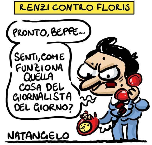 La vignetta del giorno: Renzi contro Floris