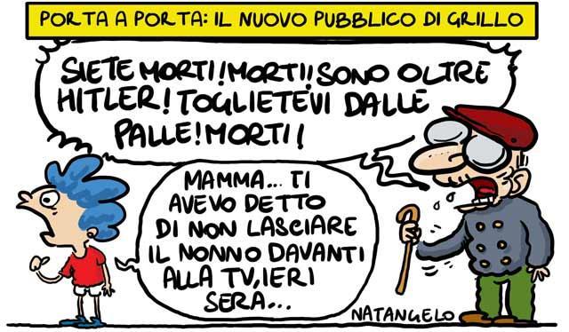 La vignetta del giorno: Il nuovo pubblico di Grillo