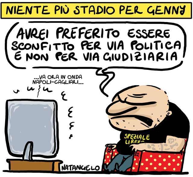 La vignetta del giorno: Daspo per Genny 'a carogna