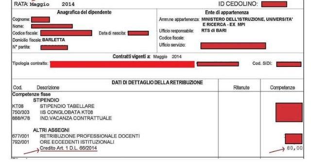 Bonus 80 euro, arrivati i primi cedolini con aumento per i dipendenti pubblici