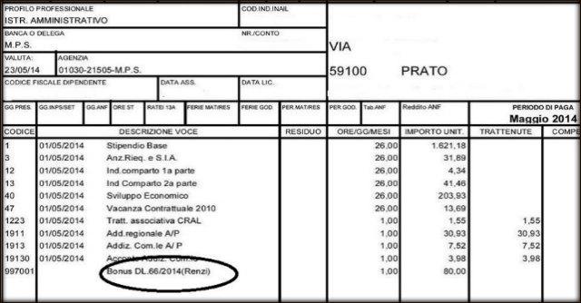 """Prato, gli 80 euro del decreto Irpef nelle buste paga diventano il """"bonus Renzi"""""""