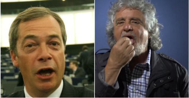 """Grillo vede Farage, ma dice: """"Stiamo sondando"""". L'Ukip: """"Causeremo guai a Bruxelles"""""""