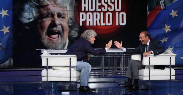 """Beppe Grillo torna in Rai da Vespa: """"Noi non violenti. Siamo rabbia buona"""""""