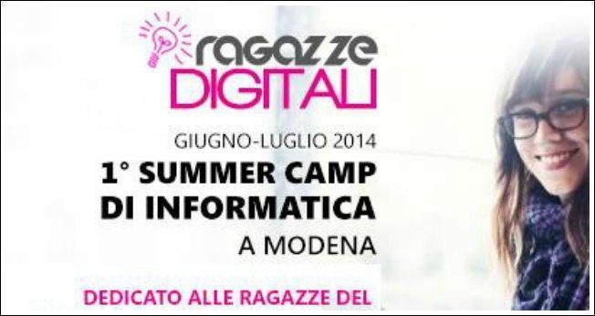 Ragazze digitali 2014, a Modena il primo camp di informatica per sole studentesse