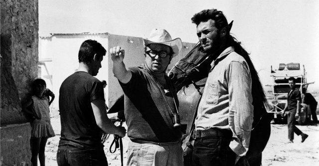 Sergio Leone e Clint Eastwood