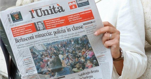 L'Unità, mercoledì i soci vanno a consulto sulla liquidazione dell'editrice