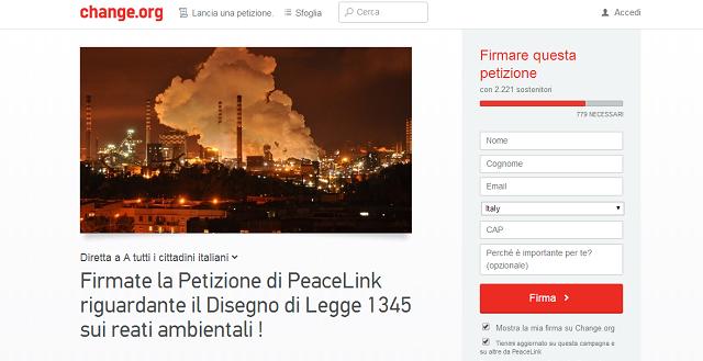 Petizione Peacelink