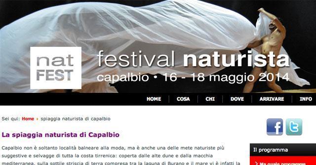 """Festival naturista 2014, a Capalbio il primo evento italiano. """"E' una filosofia di vita"""""""